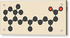 Isotretinoin Acne Treatment Drug Molecule Acrylic Print