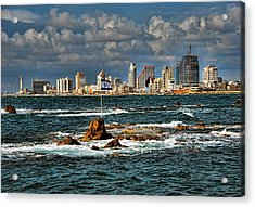 Acrylic Print featuring the photograph Israel Full Power by Ron Shoshani