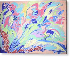 Acrylic Print featuring the painting Israel Synchromy by Esther Newman-Cohen