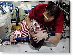 Iss Astronaut Eye Exam Acrylic Print