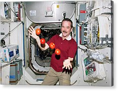 Iss Astronaut Juggling Acrylic Print