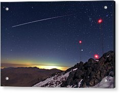 Iss Crossing The Night Sky Acrylic Print