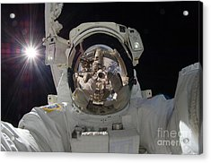 Iss Expedition 32 Spacewalk Acrylic Print by Nasa Jsc