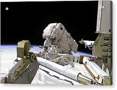 Iss Spacewalk Acrylic Print