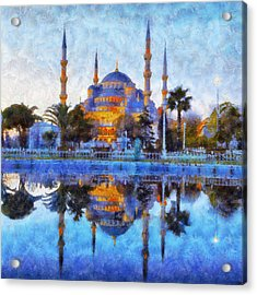 Istanbul Blue Mosque  Acrylic Print by Lilia D