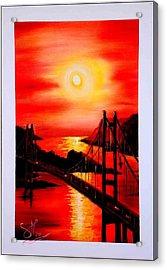 Istanbul Bridge Acrylic Print by Shirwan Ahmed