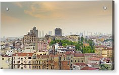 Istanbul Skyline Acrylic Print by Hans Engbers