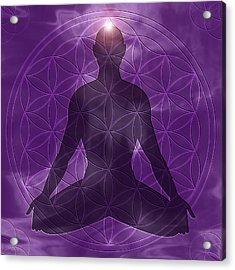 It Begins Within Crown Chakra Acrylic Print