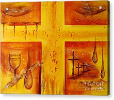Acrylic Print featuring the painting It Is Done by Jocelyn Friis