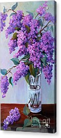 Acrylic Print featuring the painting It Is Lilac Time by Marta Styk