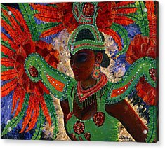 Acrylic Print featuring the painting It Looks Like Mardi Gras Time by Margaret Bobb