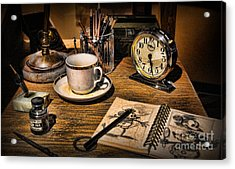 It Was All Started By A Mouse - Walt Disney's Desk Acrylic Print