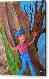 Acrylic Print featuring the painting It Was Easy ... by Matt Konar