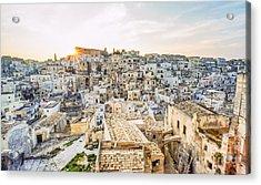It255429 Italy Matera European Cultural Capital 2019 Acrylic Print by Karl Thomas