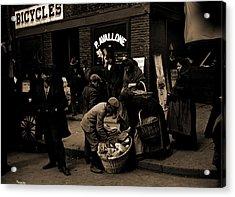 Italian Bread Peddlers, Mulberry St, New York Acrylic Print