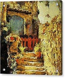 Italian Courtyard Acrylic Print by Dragica  Micki Fortuna