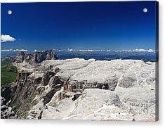 Acrylic Print featuring the photograph Italian Dolomites - Sella Group by Antonio Scarpi