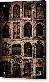 Italian Doors. Acrylic Print by Juan Nel