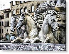 Italian Fountain Acrylic Print by Greg Sharpe