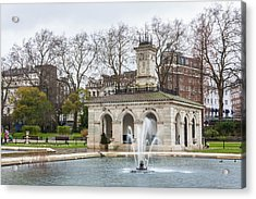Italian Fountain In London Hyde Park Acrylic Print by Semmick Photo