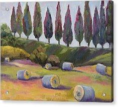 Italian Hay Bales Acrylic Print