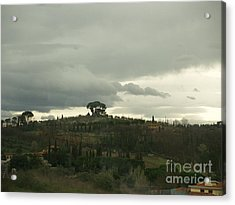 Italian Hillside Acrylic Print by Robin Maria Pedrero