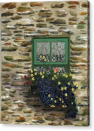 Italian Lace Window Box Acrylic Print by Cecilia Brendel