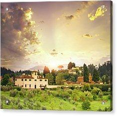 Italian  Landscape Acrylic Print by Dtokar