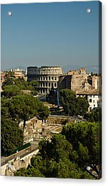 Italian Landscape With The Colosseum Rome Italy  Acrylic Print by Marianne Campolongo
