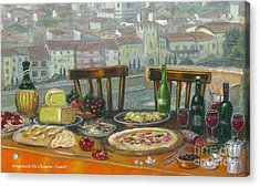 Italian Lunch Acrylic Print