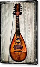 Italian Mandolin Acrylic Print by Bill Cannon