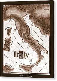 Italian Map Acrylic Print by Curtiss Shaffer