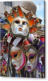 Italian Masks Acrylic Print by Teresa Tilley
