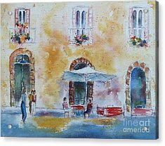 Italian Piazza Acrylic Print