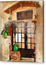 Acrylic Print featuring the painting Italian Restaurant  by Nan Wright