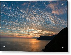 Acrylic Print featuring the photograph Italian Riviera Sunset by Carl Amoth
