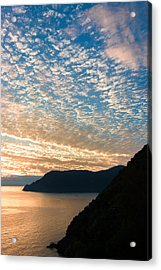 Acrylic Print featuring the photograph Italian Riviera Sunset - II by Carl Amoth