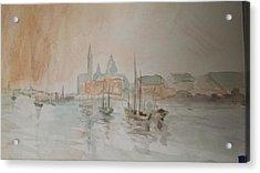 Italian Seaport Acrylic Print
