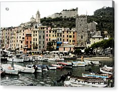 Italian Seaside Village Acrylic Print by Jim  Calarese