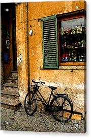 Italian Sidewalk Acrylic Print by Nancy Bradley