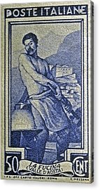Italian Stamp - Circa 1955  Acrylic Print by Bill Owen