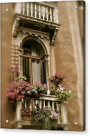 Italian Windowbox 2 Acrylic Print by Teresa Tilley