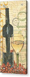 Italian Wine And Grapes 1 Acrylic Print by Debbie DeWitt