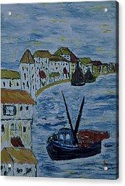 Italien Fishing Town Acrylic Print