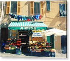 Italy Cinqueterre Store Front Acrylic Print
