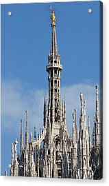 The Spire Of Milan Cathedral Acrylic Print by Francesco Croce