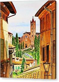 Italy Siena Acrylic Print