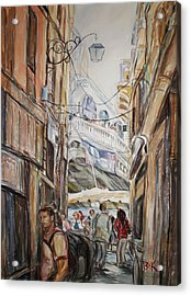 Italy Travelers Acrylic Print by Becky Kim