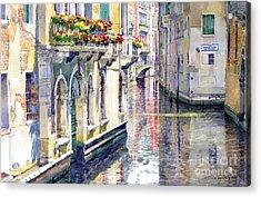 Italy Venice Midday Acrylic Print by Yuriy Shevchuk