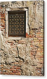Italy, Venice Ornate Metalwork Window Acrylic Print